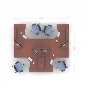 Столы с перегородками (комплект) Атрибут 10