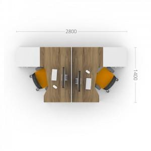 Столы с перегородками (комплект) Джет 10