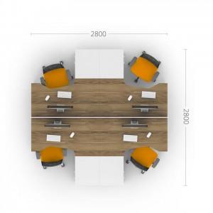 Столы с перегородками (комплект) Джет 3