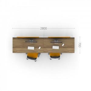 Столы с перегородками (комплект) Джет 7