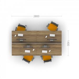 Столы с перегородками (комплект) Джет 5