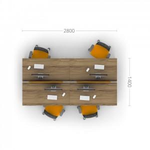 Столы с перегородками (комплект) Джет 2
