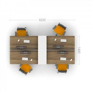 Столы с перегородками (комплект) Джет 6