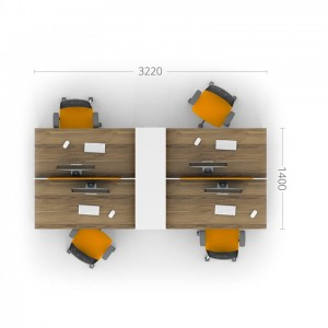 Столы с перегородками (комплект) Джет 4