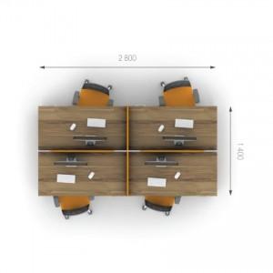 Столы с перегородками (комплект) Джет 15