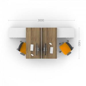 Столы с перегородками (комплект) Джет 12