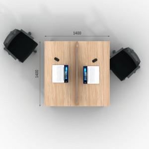 Столы с перегородками (комплект) Джет Вуд 10