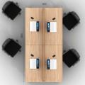 Столы с перегородками (комплект) Джет Вуд 11