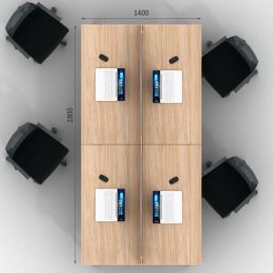 Столы с перегородками (комплект) Джет Вуд 12