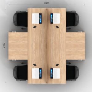 Столы с перегородками (комплект) Джет Вуд 15