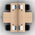 Столы с перегородками (комплект) Джет Вуд 16