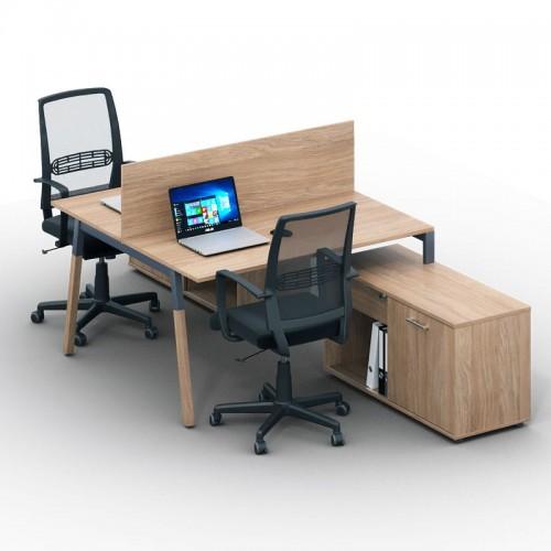 Столы с перегородками (комплект) Джет Вуд 7