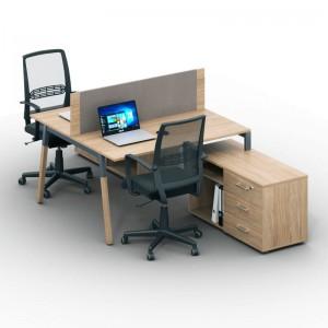 Столы с перегородками (комплект) Джет Вуд 8