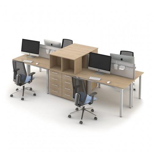 Столы с перегородками (комплект) Озон 7