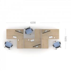 Столы с перегородками (комплект) Озон 2