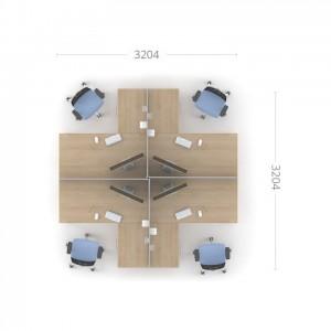 Столы с перегородками (комплект) Озон 3