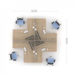 Столы с перегородками (комплект) Озон 4
