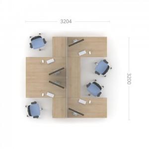 Столы с перегородками (комплект) Озон 5