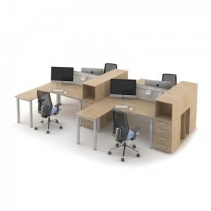 Столы с перегородками (комплект) Озон 6