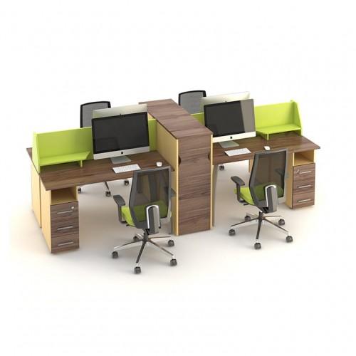 Столы с перегородками (комплект) Прайм 4