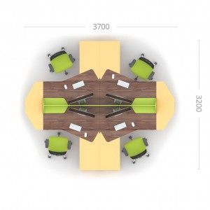Столы с перегородкой (комплект) Прайм 3