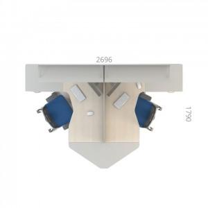 Столы с перегородками (комплект) Сенс 3
