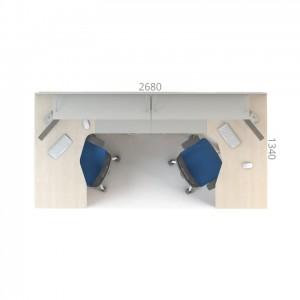 Столы с перегородками (комплект) Сенс 9