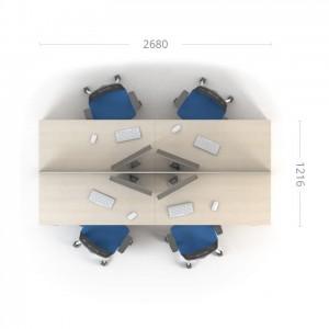 Столы с перегородками (комплект) Сенс 1