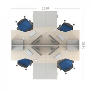 Столы с перегородками (комплект) Сенс 5