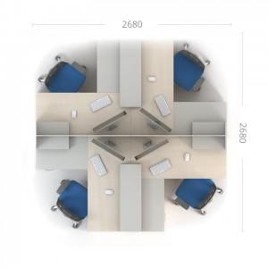 Столы с перегородками (комплект) Сенс 10