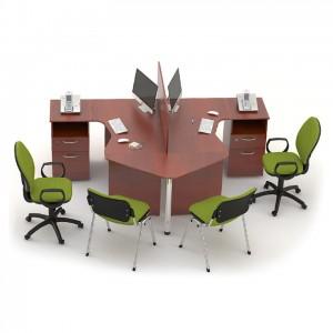 Столы с перегородками (комплект) Сенс 7