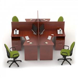 Столы с перегородками (комплект) Сенс 8