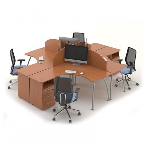 Столы с перегородками (комплект) Техно-Плюс 8