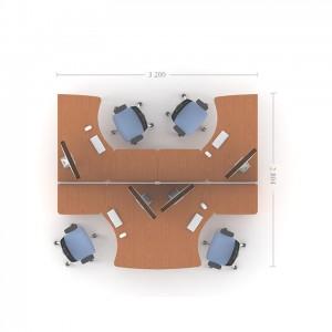 Столы с перегородками (комплект) Техно-Плюс 10