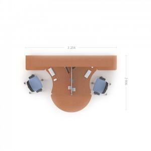 Столы с перегородками (комплект) Техно-Плюс 11