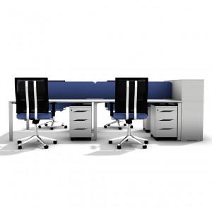 Столы с перегородками (комплект) Меган 49